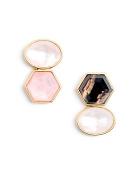 kate spade new york - Double-Stone Mismatch Drop Earrings