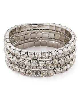 AQUA - Crystal Stretch Bracelets, Set of 5 - 100% Exclusive