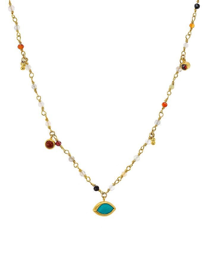 Chan Luu MULTI-STONE NECKLACE IN 18K GOLD-PLATED STERLING SILVER, 16