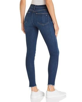 rag & bone/JEAN - High-Rise Frayed Ankle Skinny Jeans in Lenox
