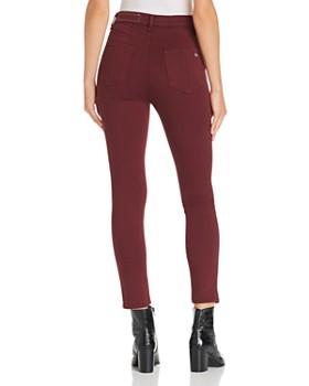 rag & bone/JEAN - High-Rise Ankle Skinny Jeans in Burgundy