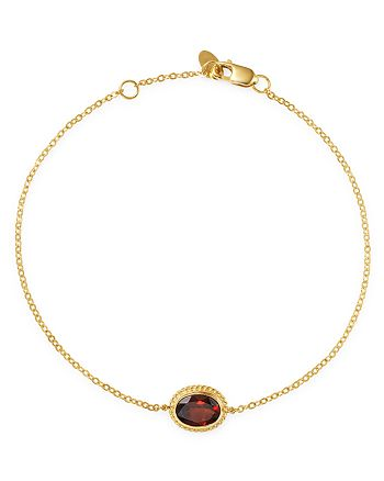 Bloomingdale's - Garnet Oval Bracelet in 14K Yellow Gold - 100% Exclusive