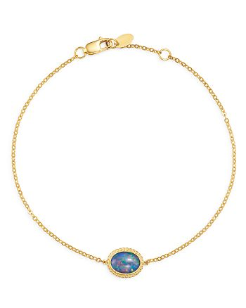 Bloomingdale's - Opal Oval Bracelet in 14K Yellow Gold - 100% Exclusive