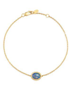 Bloomingdale's Opal Oval Bracelet in 14K Yellow Gold - 100% Exclusive