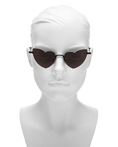 Saint Laurent - Women's Lou Lou Rimless Heart Sunglasses, 50mm