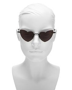 Saint Laurent - Loulou Rimless Heart Sunglasses, 50mm