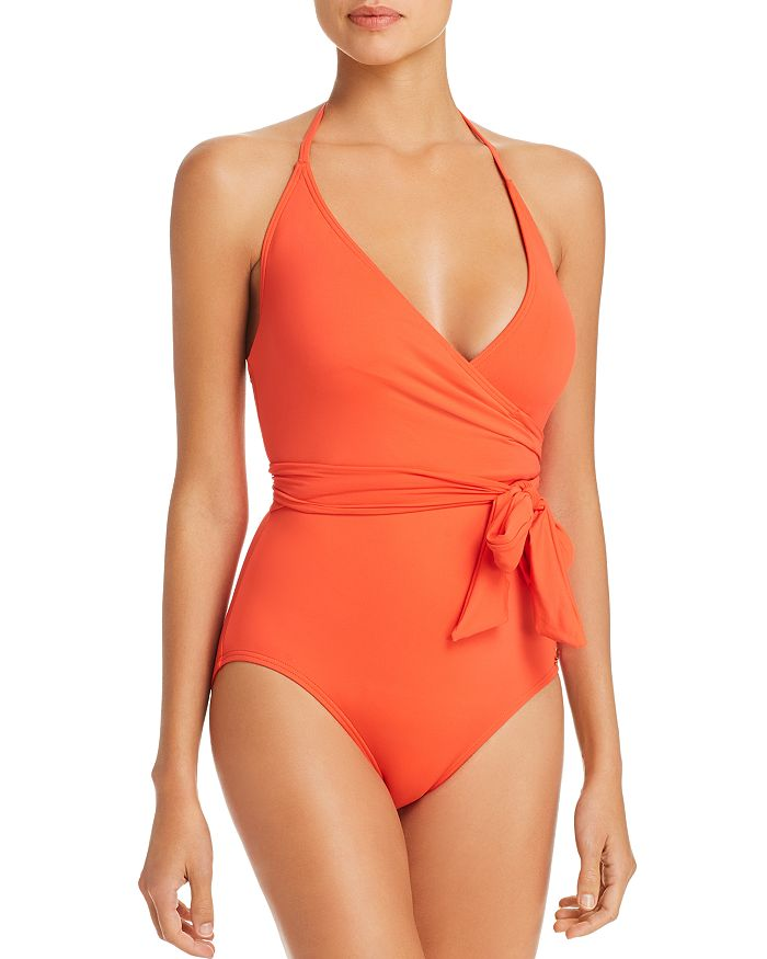 VINCE CAMUTO - Wrap-Front One Piece Swimsuit