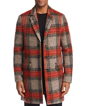 Scotch & Soda - Brushed Tartan Plaid Topcoat