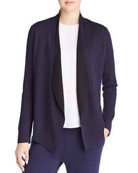Eileen Fisher - Draped Open-Front Cardigan