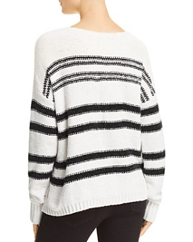 AQUA - Striped Chenille Sweater - 100% Exclusive