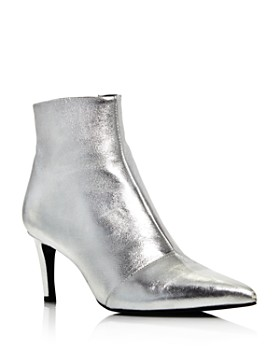 rag & bone - Women's Beha Almond Toe Metallic Leather Booties