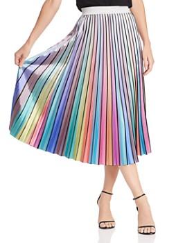 Lucy Paris - Rainbow Pleated Midi Skirt