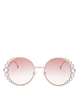Fendi - Women's Round Sunglasses, 57mm
