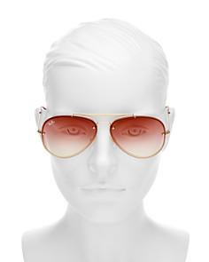 Ray-Ban - Unisex Blaze Brow Bar Aviator Sunglasses, 61mm