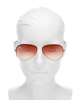 ... 61mm Ray-Ban - Unisex Blaze Brow Bar Aviator Sunglasses, 61mm 314294f8a3