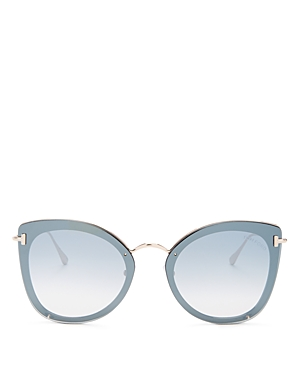 a89122c0fca55 Tom Ford Charolette 62Mm Oversize Butterfly Sunglasses - Shiny Black  Rose  Gold  Silver