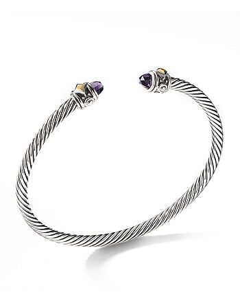 David Yurman - Renaissance Bracelet with Amethyst & 18K Yellow Gold