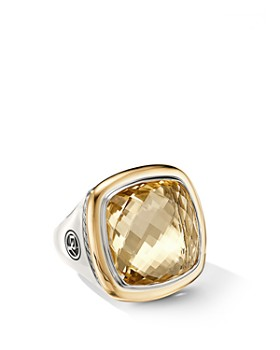 David Yurman - Albion® Statement Ring with 18K Yellow Gold & Champagne Citrine