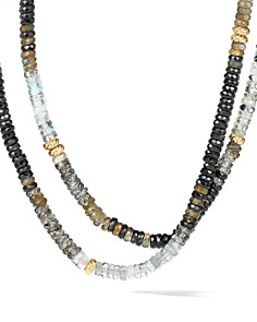 David Yurman - Tweejoux Necklace in 18K Yellow Gold with Black Onyx