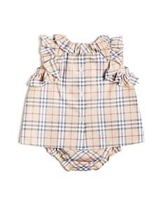 Burberry - Girls' Carla Ruffle Check Dress & Bloomers Set - Baby