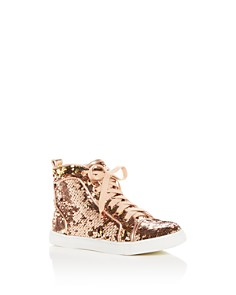 Dolce Vita - Girls' Zema Reversible Sequin High-Top Sneakers - Little Kid, Big Kid