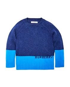 Burberry - Boys' Alistar Color-Block Cashmere Sweater - Little Kid, Big Kid