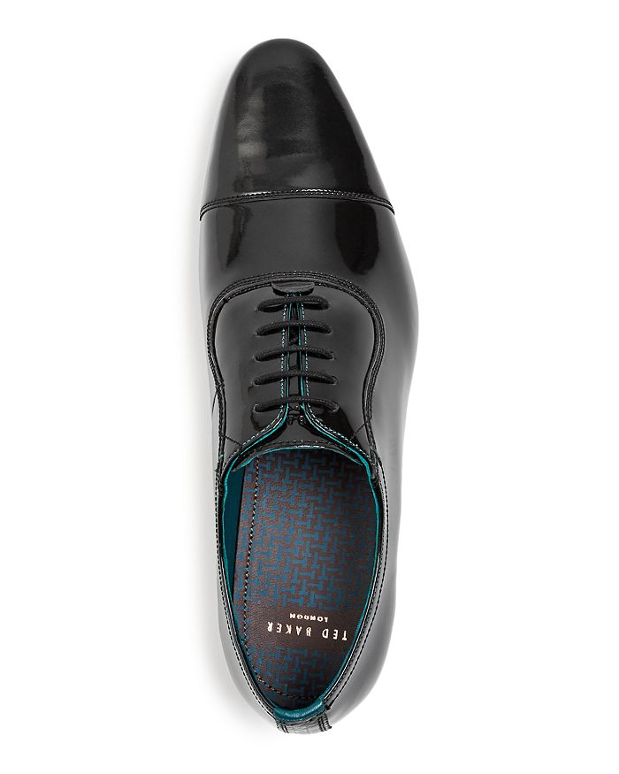 8fd4c4b7dd54 Ted Baker Men s Sharney Patent Leather Cap-Toe Oxfords