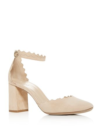 9ffae9e64f6 Chlo eacute  - Women s Lauren Scalloped Suede Ankle-Strap Pumps