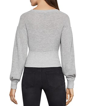BCBGMAXAZRIA - Lace-Up Cropped Sweater