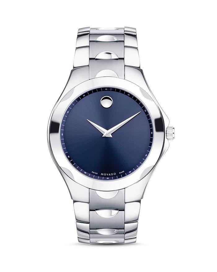 Movado Luno Sport Watch, 40Mm In Blue/Silver