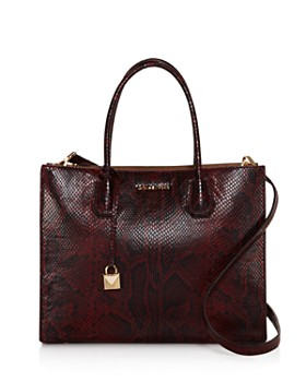 Michael Kors Large Mercer Python Tote 100 Exclusive