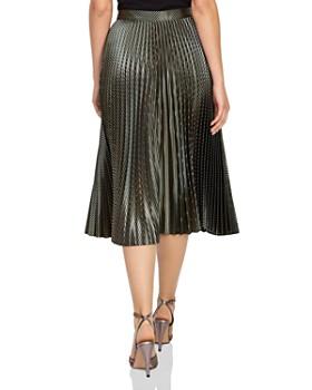 REISS - Evie Metallic Pleated Skirt