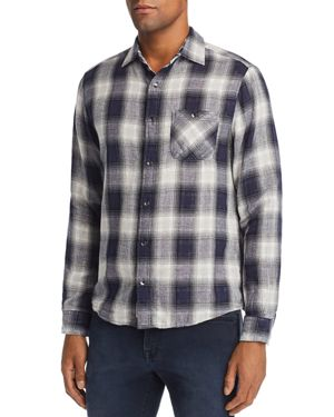 FLAG & ANTHEM Smithdale Flannel Shirt - 100% Exclusive in White/Black