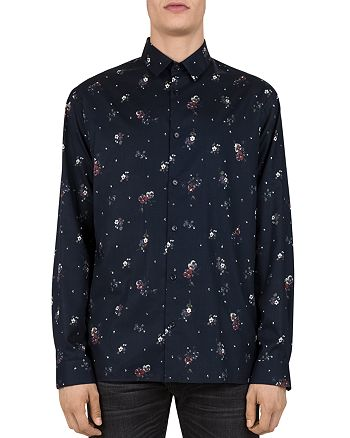 The Kooples - Douglass Flowers Slim Fit Button-Down Shirt