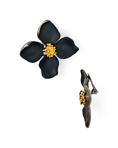 Oscar de la Renta - Painted Flower Clip-On Earrings