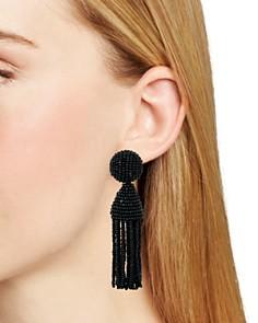 Oscar de la Renta - Short Tassel Clip-On Earrings