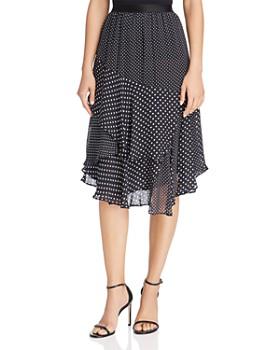 Joie - Deshay Tiered Silk Polka-Dot Skirt