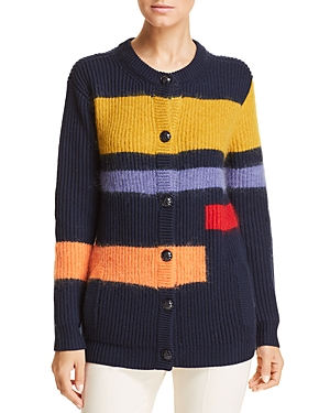 Tory Burch Color-Block Cardigan
