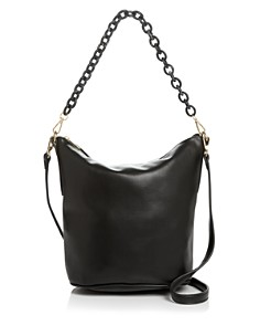 Street Level - Leather Hobo with Chain Handle
