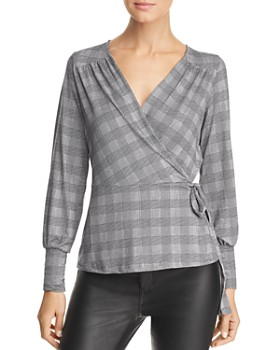 Vero Moda - Tirsa Plaid Wrap Top