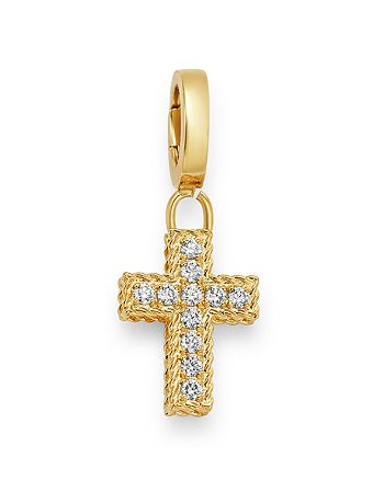 Roberto Coin - 18K Yellow Gold Charm Set Collection Diamond Cross