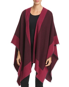 Eileen Fisher - Color-Block Poncho - 100% Exclusive