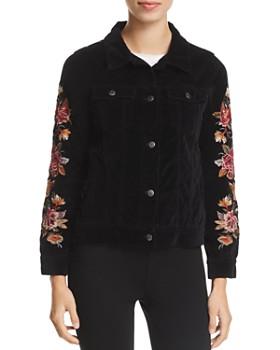 Johnny Was - Embroidered Velvet Jacket
