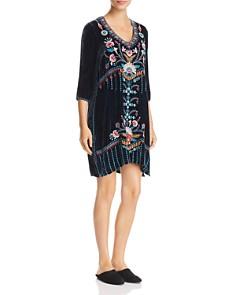 Johnny Was - Delphine Embroidered Velvet Dress