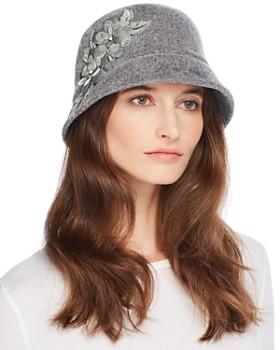 August Hat Company - Floral Appliqué Cloche