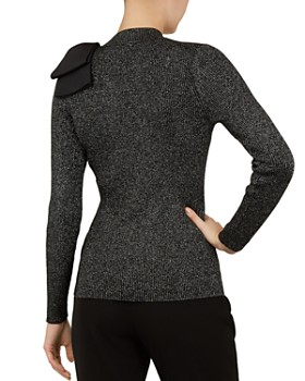 Ted Baker - Lizziia Bow-Detail Metallic Sweater