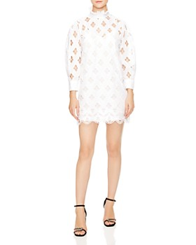 Sandro - Houle Embroidered Eyelet Mini Dress