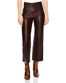 Sandro - Boreales Leather Crop Pants