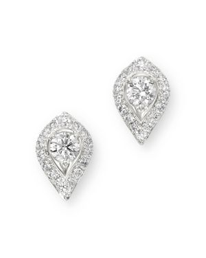Bloomingdale's Pave Diamond Solitaire Earrings in 14K White Gold, 0.60 ct. t.w. - 100% Exclusive