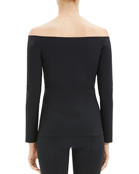 Theory - Off-the-Shoulder Knit Top